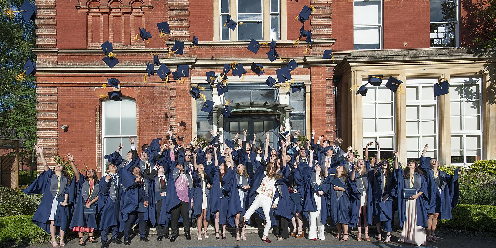 Egham Graduation 2019 Hat Toss